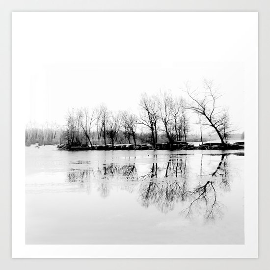 cold silence Art Print