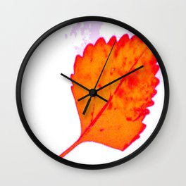 BE LIKE A LEAF #8 Wall Clock