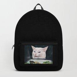 Woman Yelling at Cat Meme-4 Backpack
