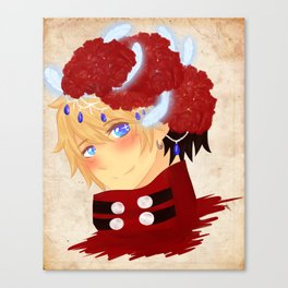 TRIGUN - Vash w/ Geraniums Canvas Print