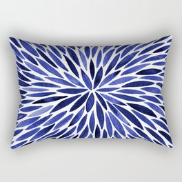 Navy Burst Rectangular Pillow