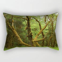 A Moos Laden Tree Rectangular Pillow