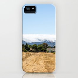 Clouds sleeping on the mountain in California iPhone Case