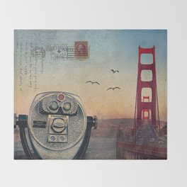 GOLDEN GATE RAIN - San Francisco Throw Blanket