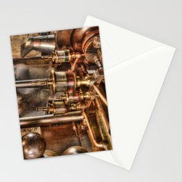 Steam engine oilers Stationery Cards