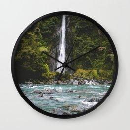 Thunder Creek Falls Wall Clock