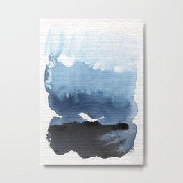 In Blue Flow Metal Print