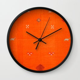 -A10- Traditional Anthropologie Moroccan orange Artwork. Wall Clock