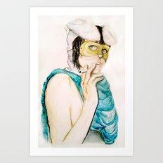 Smoking bunny Art Print