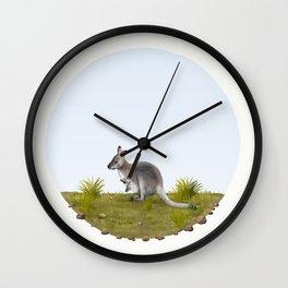 Bennett's wallaby (Macropus rufogriseus) Wall Clock