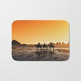 Sunset On Horseback Bath Mat