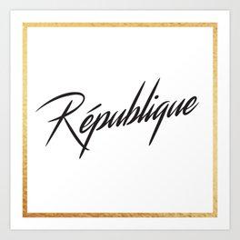 """""""République"""" by Ashley Crawley Art Print"""
