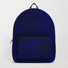 Australian Flag Blue and Black Houndstooth Check Backpack