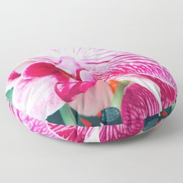 Close up Orchid 20 Floor Pillow