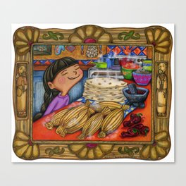 Tamale girl Canvas Print