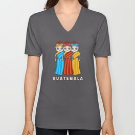 Guatemala Traditional Women Guatemalans Unisex V-Neck