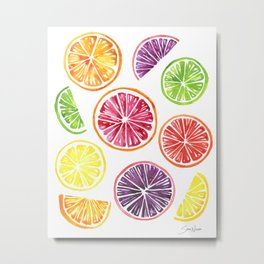 Citrus Wheels Metal Print