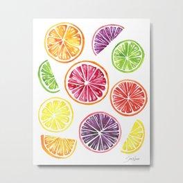 Citrus Wheels Metal Print