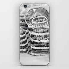 Plant Cages in the Snow iPhone & iPod Skin