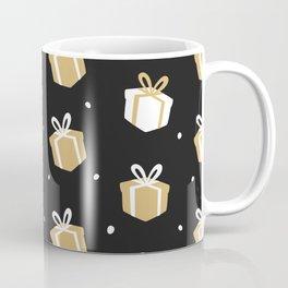 Black Gift Package Pattern Coffee Mug
