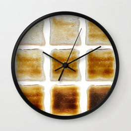How Do You Like Your Toast Done Wall Clock