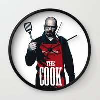 cook Wall Clocks featuring The Cook by Step.