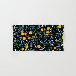 Oranges Black Hand & Bath Towel