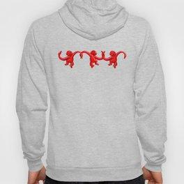 Monkey Toy Pattern - Red Hoody