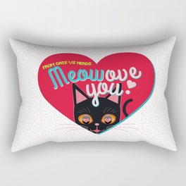 Meowove you! - Valentine's Special Rectangular Pillow