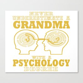 Psychology Grandma Canvas Print