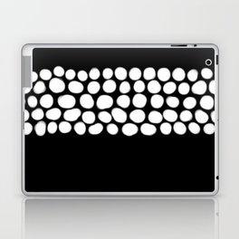 Soft White Pearls on Black Laptop & iPad Skin