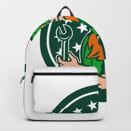 Irish-American Mechanic USA Flag Icon Backpack