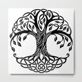 Tree-Circle Peace Metal Print