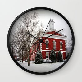 Iron County Courthouse in the Snow Wall Clock