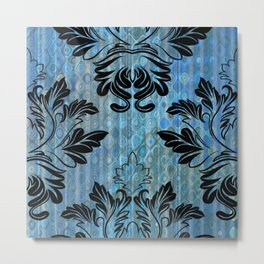 Layers of Blue with Design Metal Print