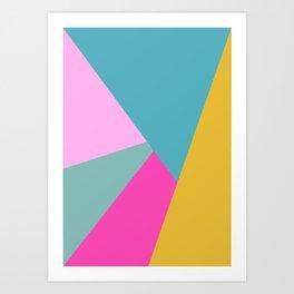 Geometric Color Block #11 Brights Art Print