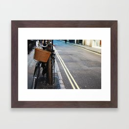 lonely bike Framed Art Print
