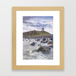 Dunstanburgh Castle Boulders Framed Art Print