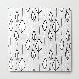 mono leaves Metal Print