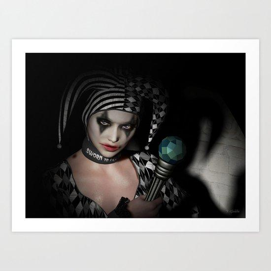 Dark clown Art Print