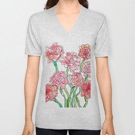 Carnations Unisex V-Neck