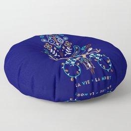 La Vie & La Mort – Navy Floor Pillow