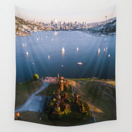 Gas Works and Lake Union Wall Tapestry