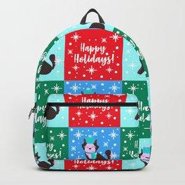 Happy Holidays! Christmas And Hanukkah Cute Dog Pattern Backpack