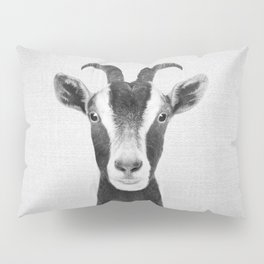 Goat - Black & White Pillow Sham