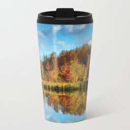 Vibrant Autumn Reflections Travel Mug