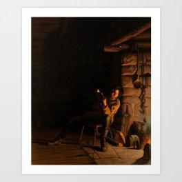Eastman Johnson, Boyhood of Lincoln,1868 Art Print