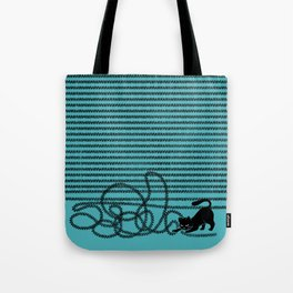 Unravel (in Blue) Tote Bag