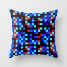pixel labyrinth Throw Pillow