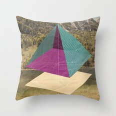 piramidi&nuvole Throw Pillow